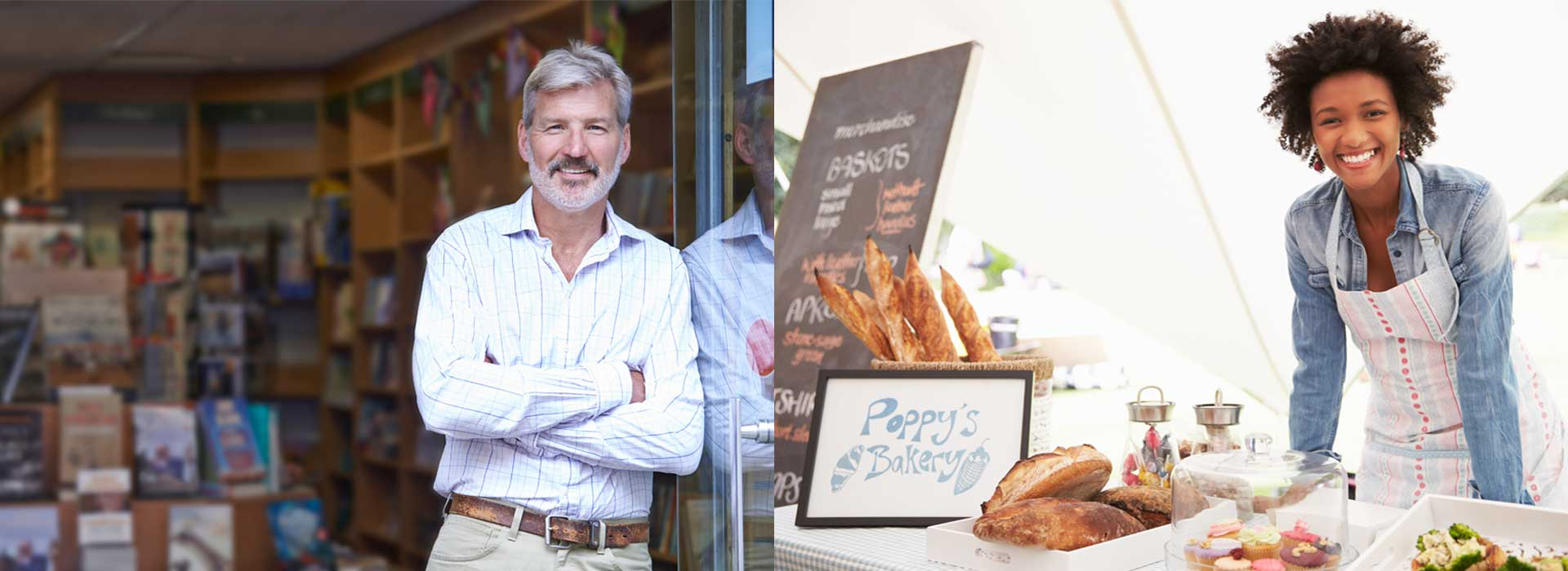 man and women entrepreneurs bakery start-up business