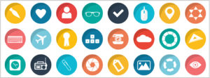 colourful social media icons
