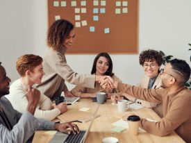 people working together around a table